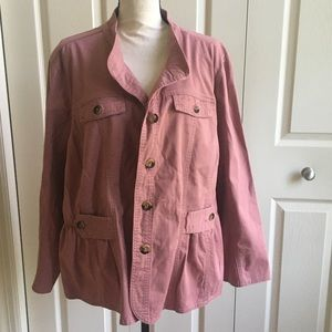 Light pink jacket with buttons